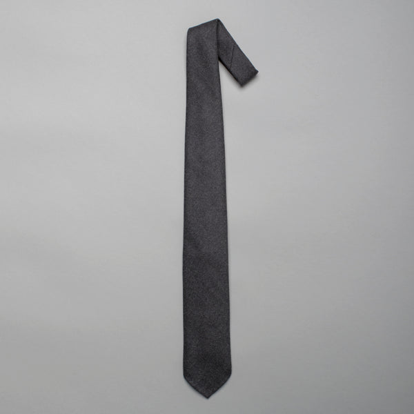 Grey Luxury Wool Tie