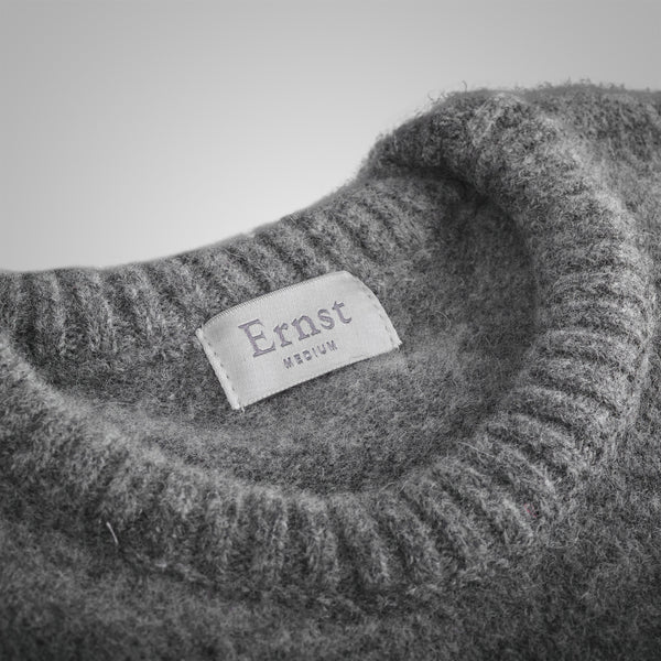 Grey Mix Crew Neck Lambwools Sweater