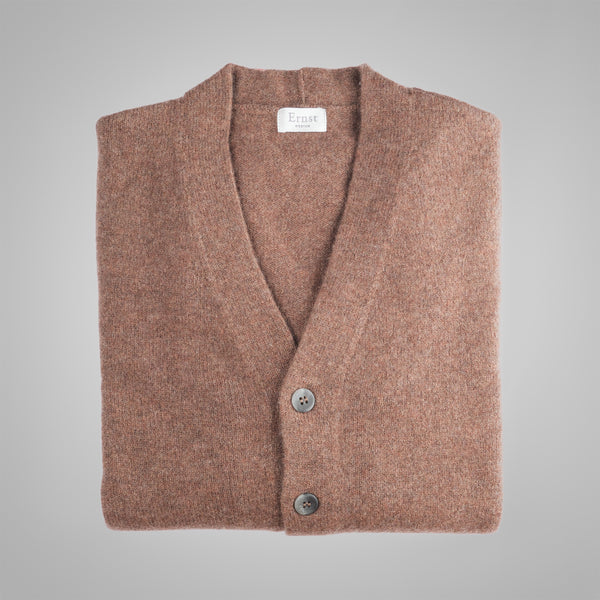 Tobacco Brown Pocket Cardigan
