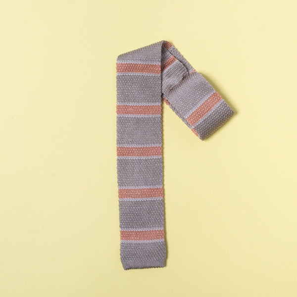 Light brown Knitted Silk & Linen Tie