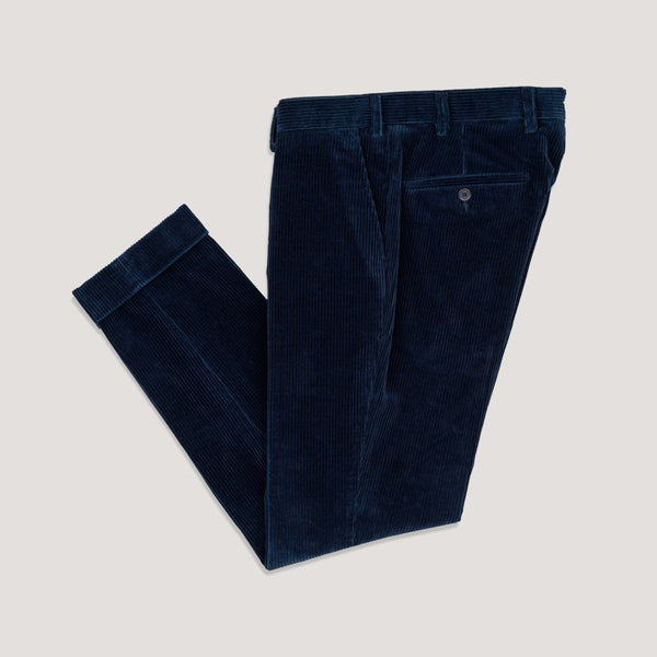 Navy Corduroy Trousers