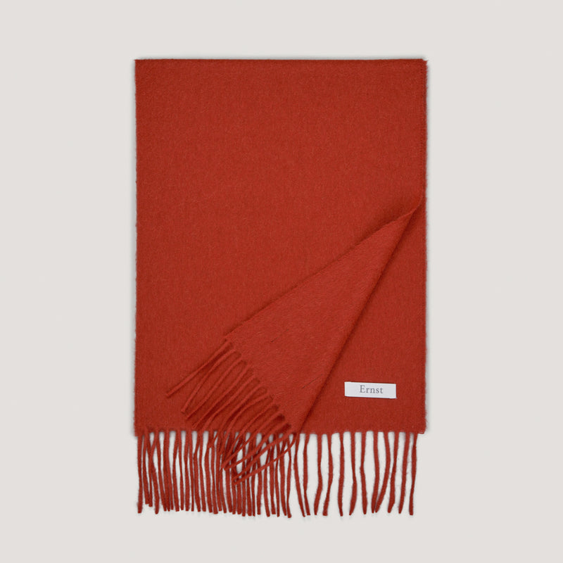 Rust Red Wool Scarf