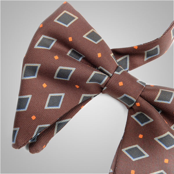 Brown Vintage Crown Bow Tie