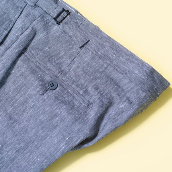 Textured Wool & Linen Trousers