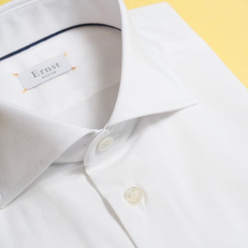 White Stretch Cotton Shirt