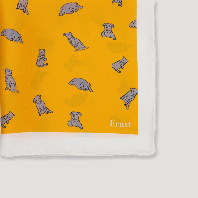 Yellow Staffordshire Pattern Handkerchief