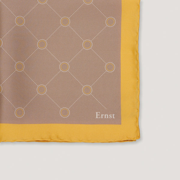 Yellow Vintage Pattern Handkerchief