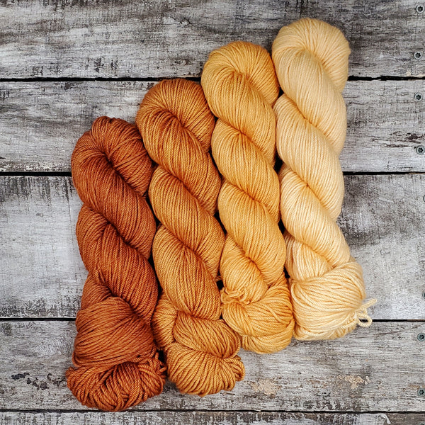 Appalachian Shawl Kit - Sweet Sienna Gradient