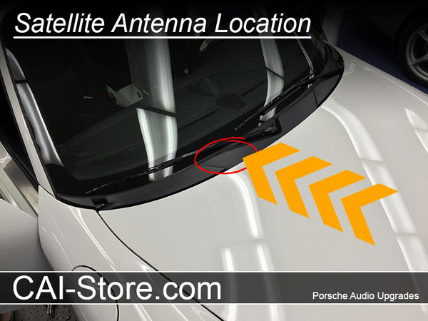 Porsche hidden antenna mount location