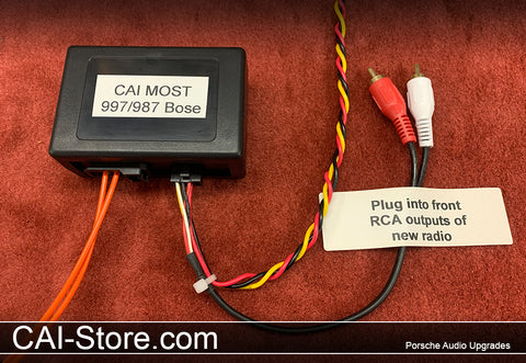 CAI MOST BOSE HUR 997 & 987  Basic Porsche Radio Replacement Module