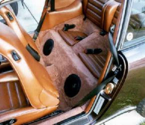 Porsche 911 Convertible and Coupe Dual Subwoofer '84-'89