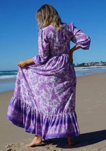 Load image into Gallery viewer, Lilac Boho Maxi Dress