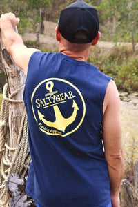 SALTYGEAR ANCHOR Cotton Muscle Tee