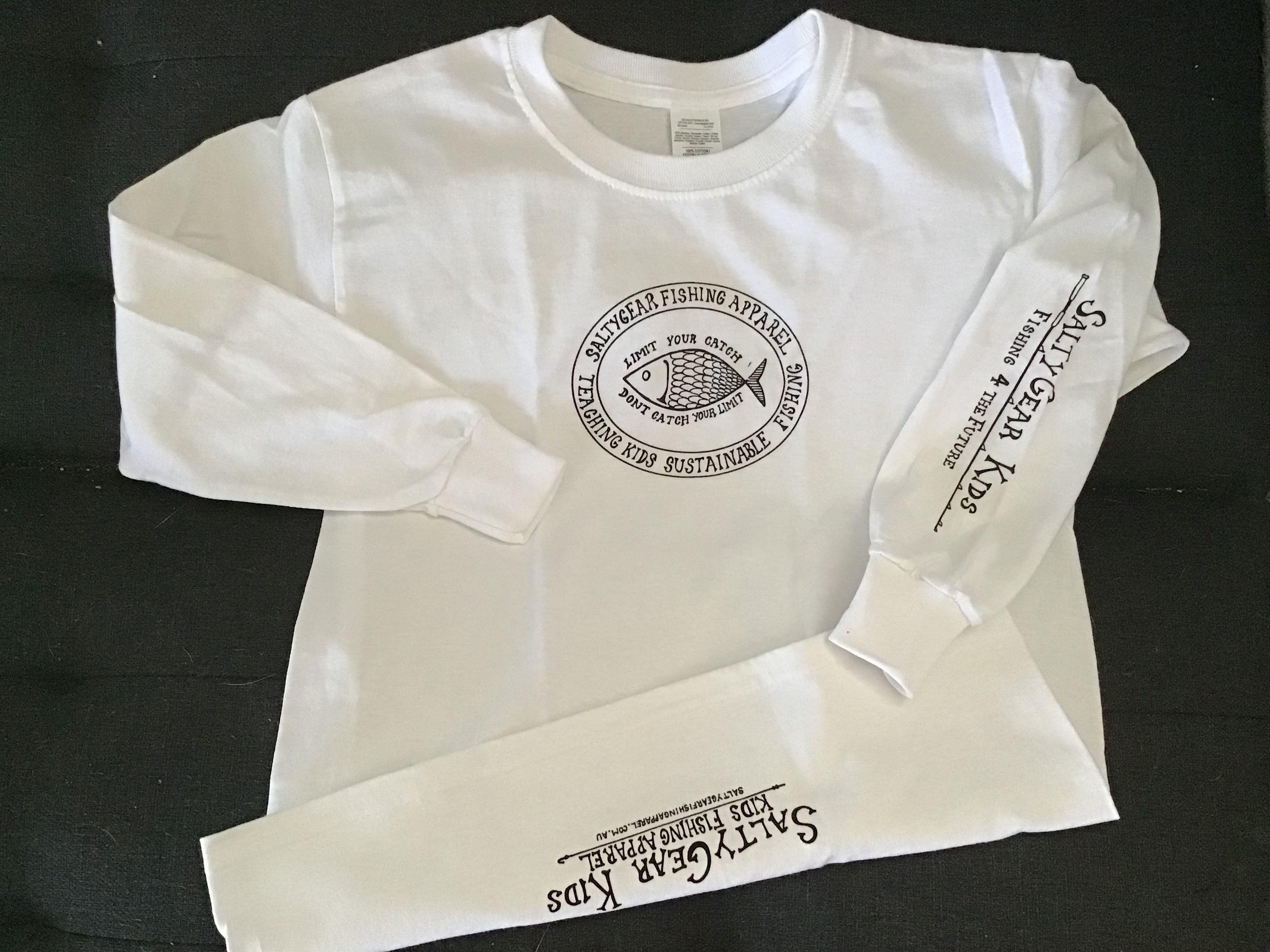 FISH Long Sleeve Cotton Tee YOUTH