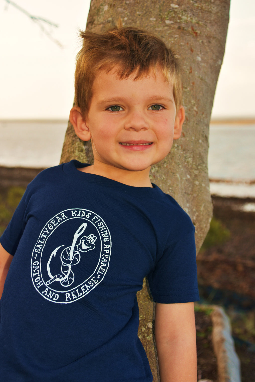 WORM ON HOOK Short Sleeve Cotton Tshirt TODDLER