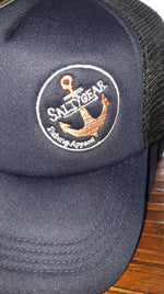 SALTY GEAR Anchor Embroided Trucker Cap Orange