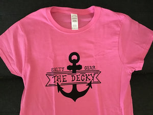 THE DECKY Short Sleeve FITTED Cotton Tshirt LADIES