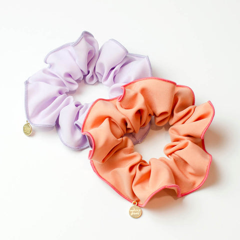 Cantaloupe and Lavender Scrunchie Set