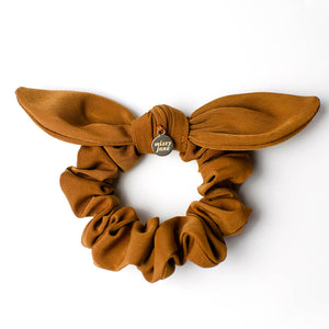 Copper Knotted Bow Scrunchie