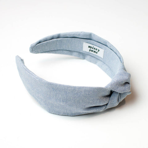 Chambray Knotted Headband