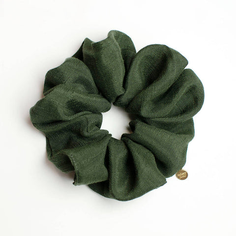 Olive Green Oversized Scrunchie