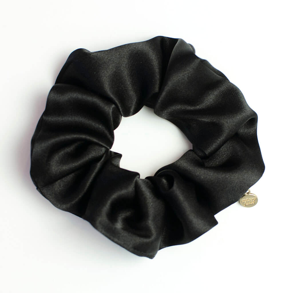 Black Satin Scrunchie