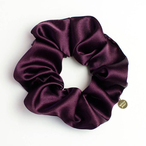 Plum Satin Scrunchie