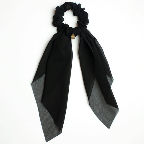 Black Scarf Scrunchie