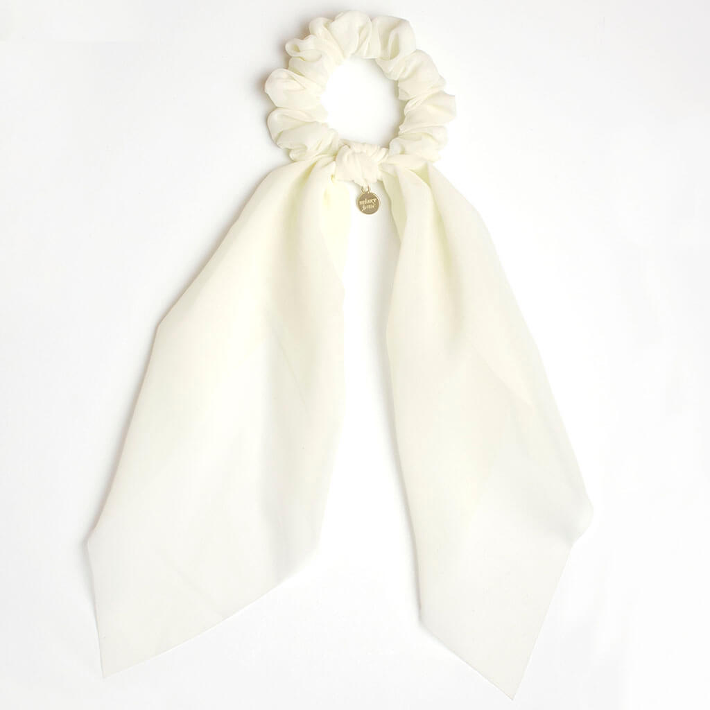 Cream Scarf Scrunchie