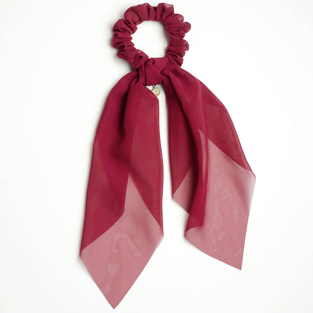 Ruby Red Scarf Scrunchie