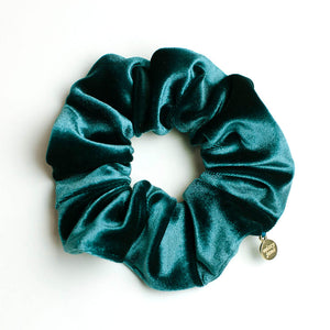 Peacock Green Velvet Scrunchie