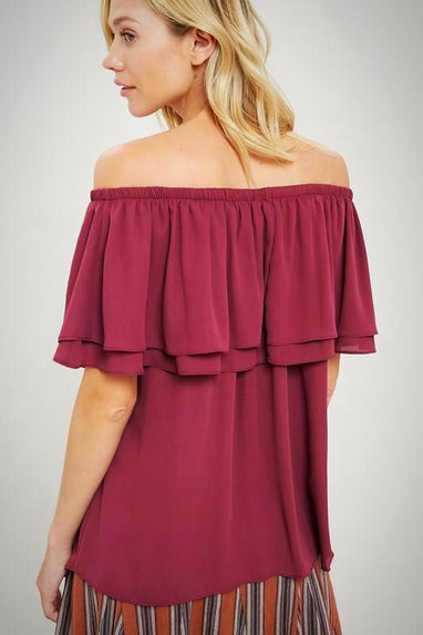 Ruffled Off The Shoulder Top