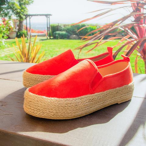 Ray Espadrille Sneaker (Blood Orange)