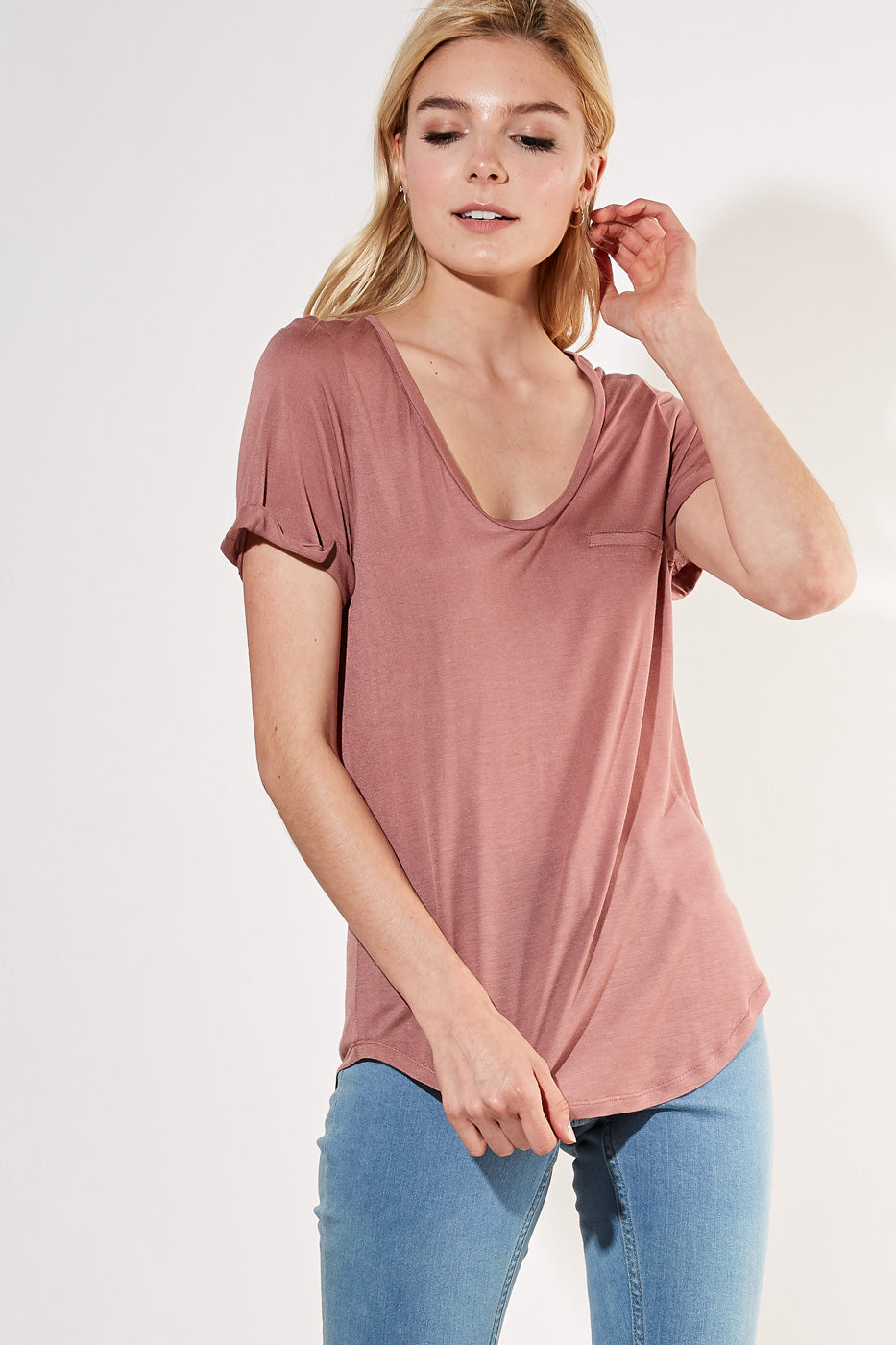Bella Basic Tee (Heather Grey)