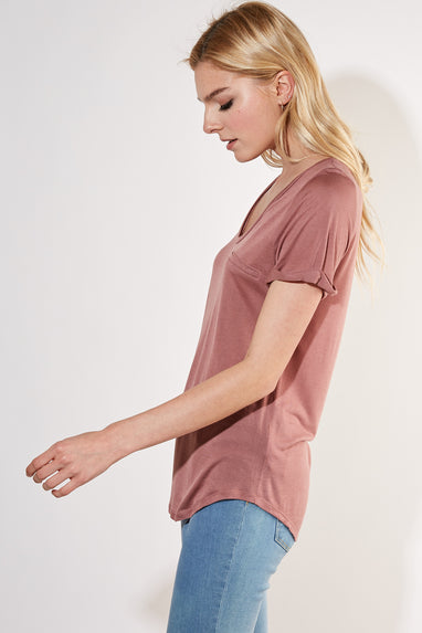 Bella Basic Tee (Smoke Rose)