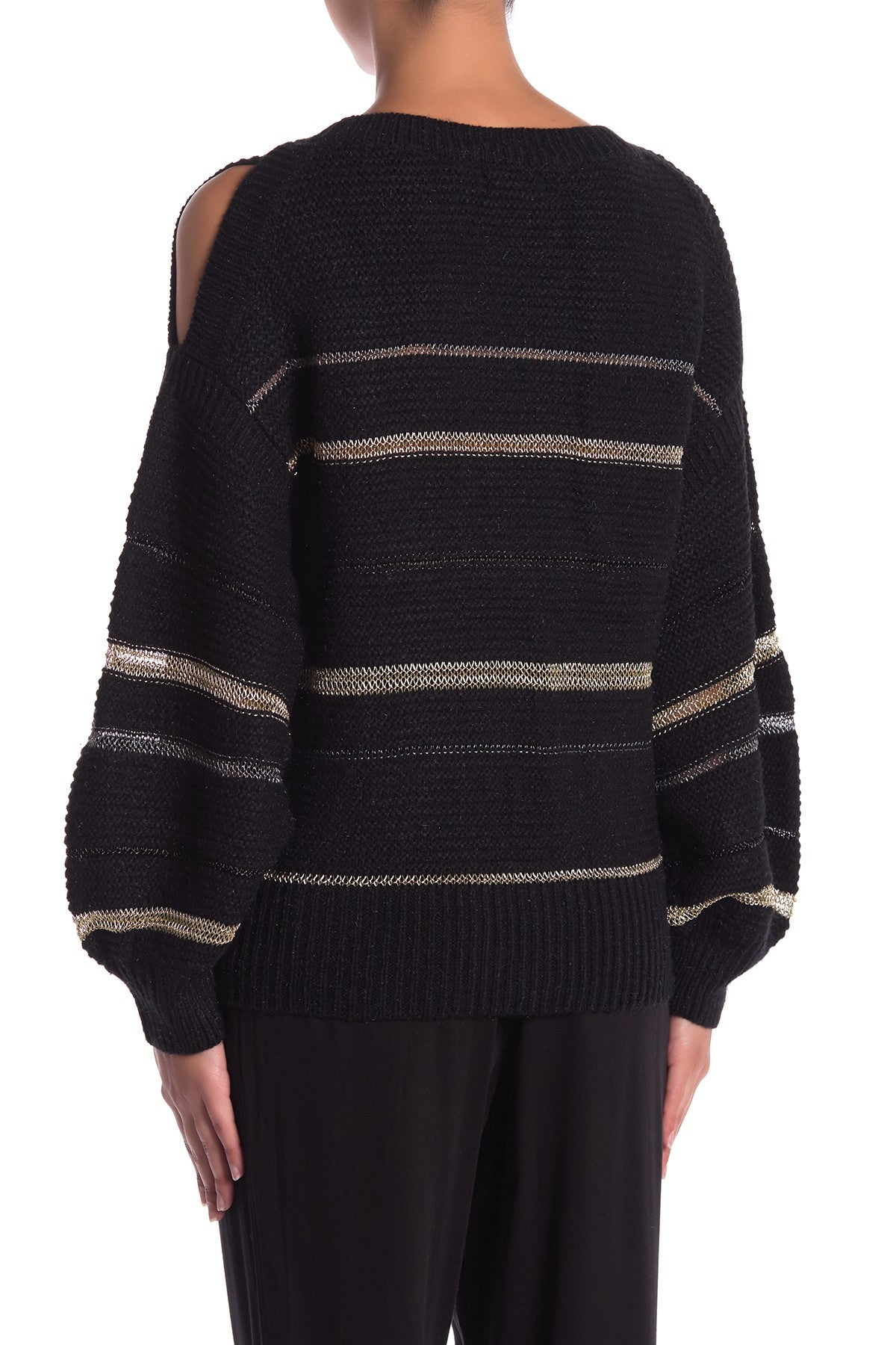 Metallic Striped Sweater