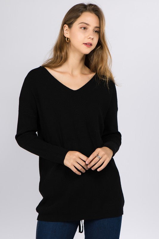 Autumn Breeze Sweater in Black