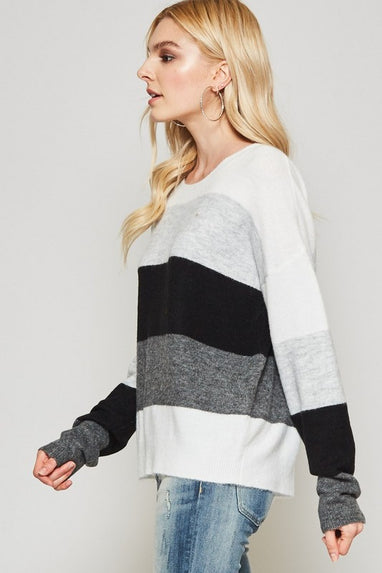 City Views Color Block Sweater
