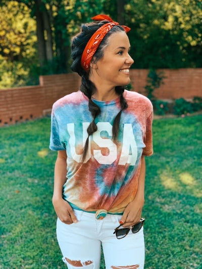 Tie-Dye Acid Wash USA Tee