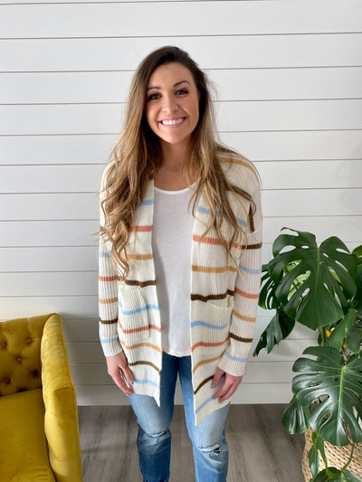 Layer Up Striped Cardigan