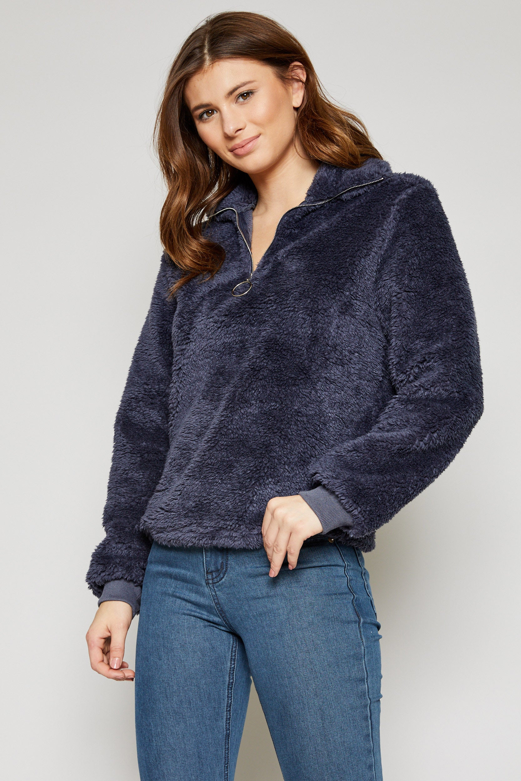 On Cloud Nine Pullover in Navy