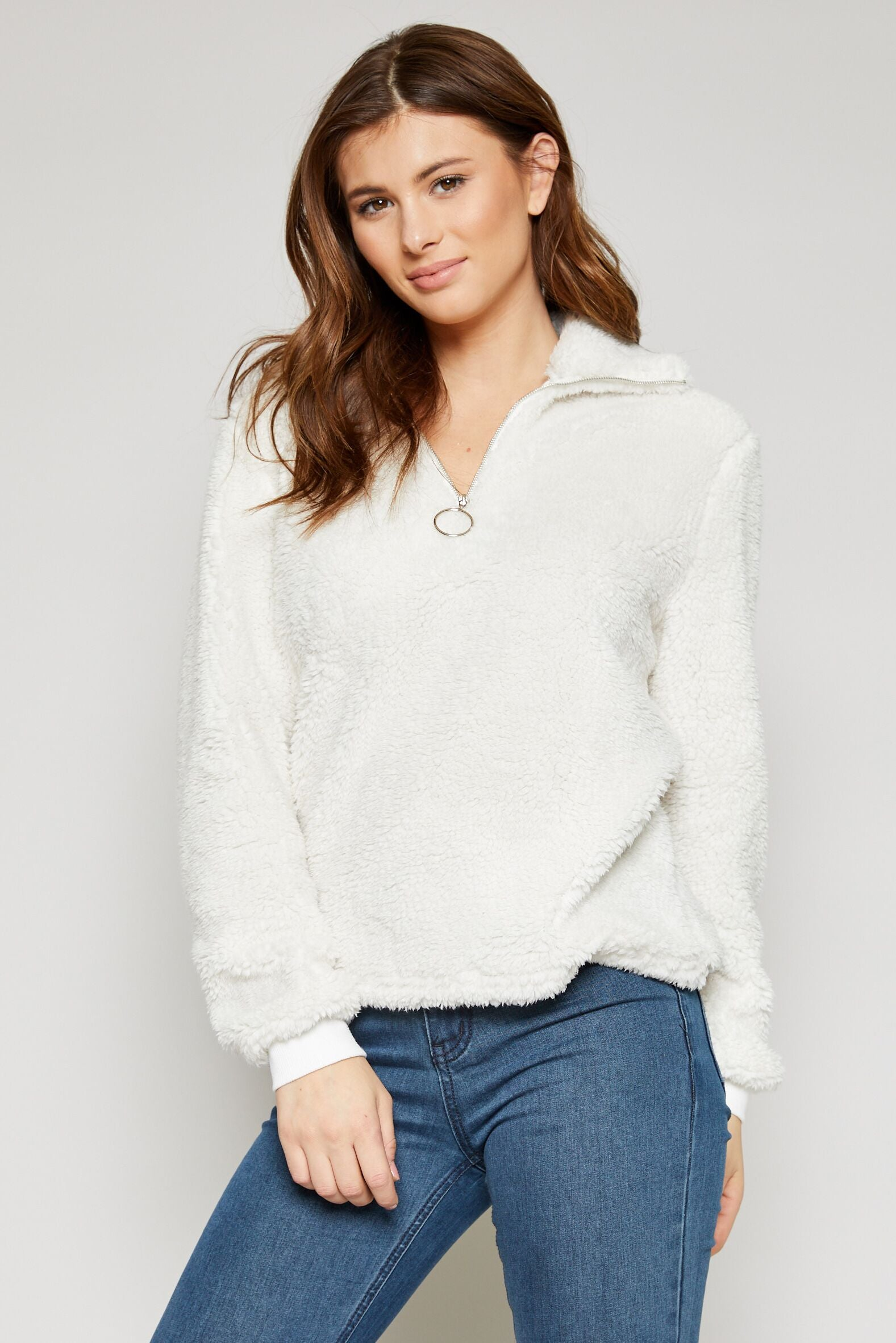 On Cloud Nine Pullover in White