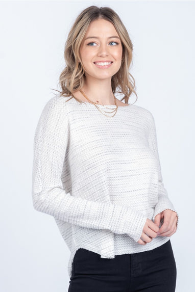 Cloudy Days Waffle Knit Top