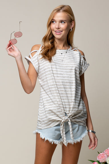 Strappy Shoulder Tee