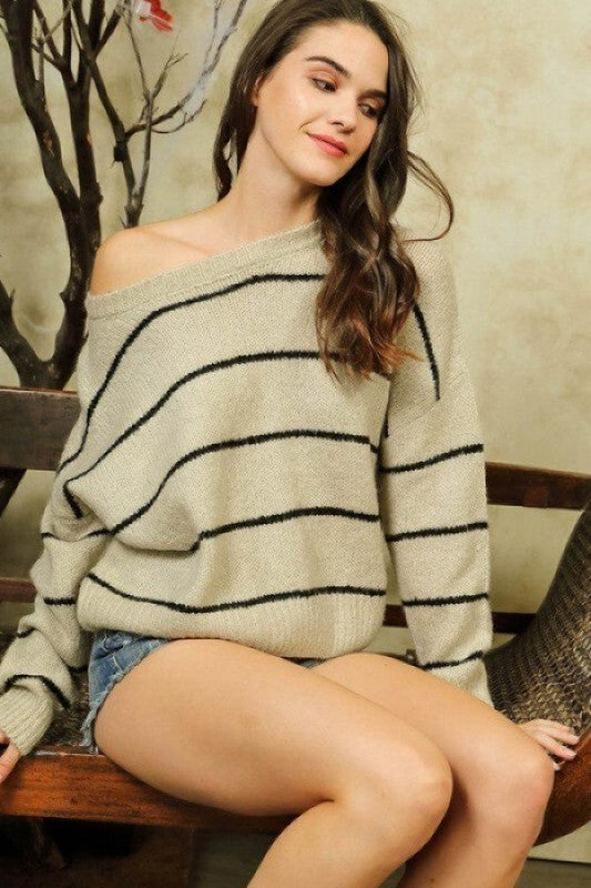 Fall Away Striped Sweater