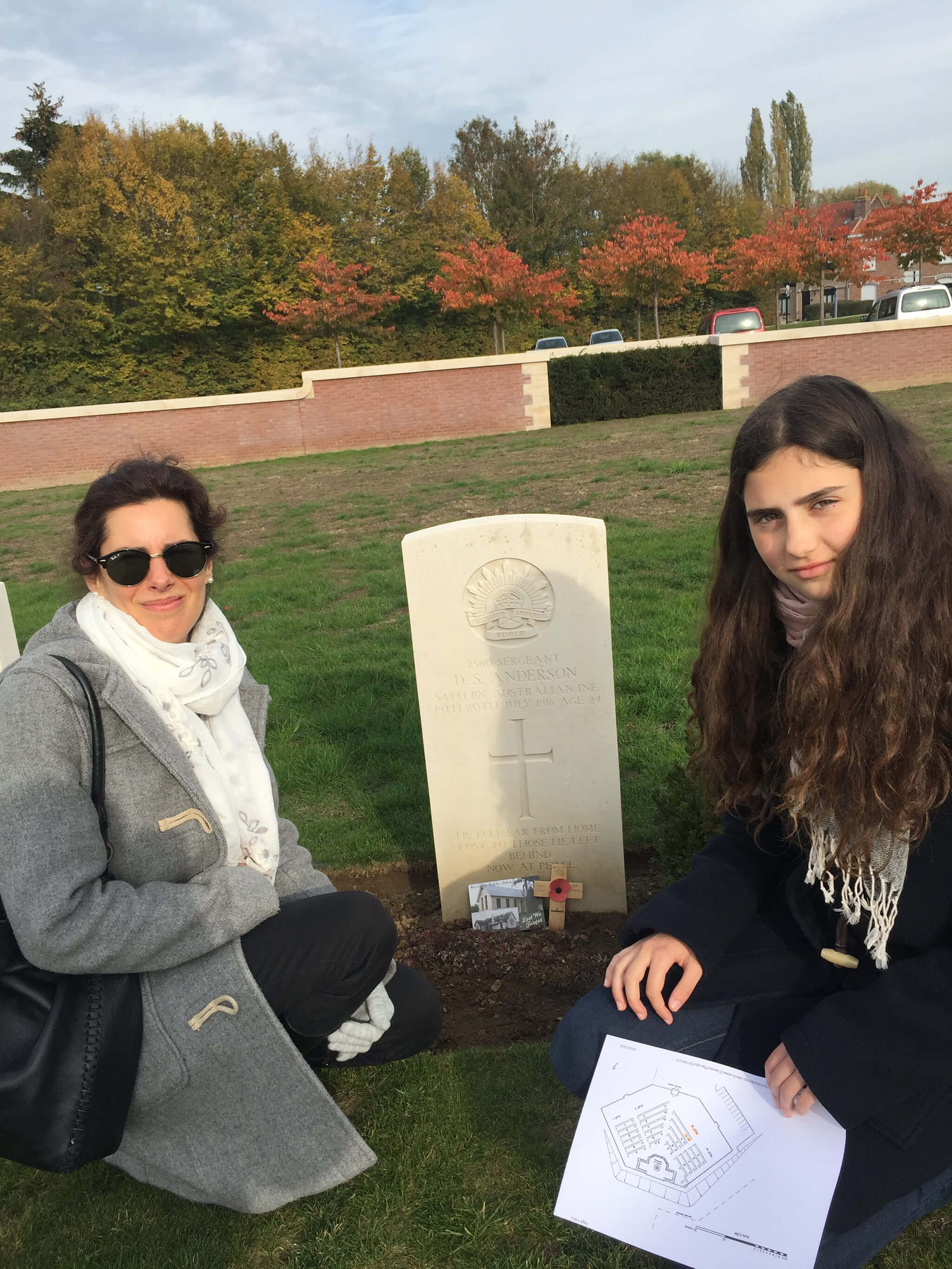 Margarita and her mother Natalia on their trip to the Western Front