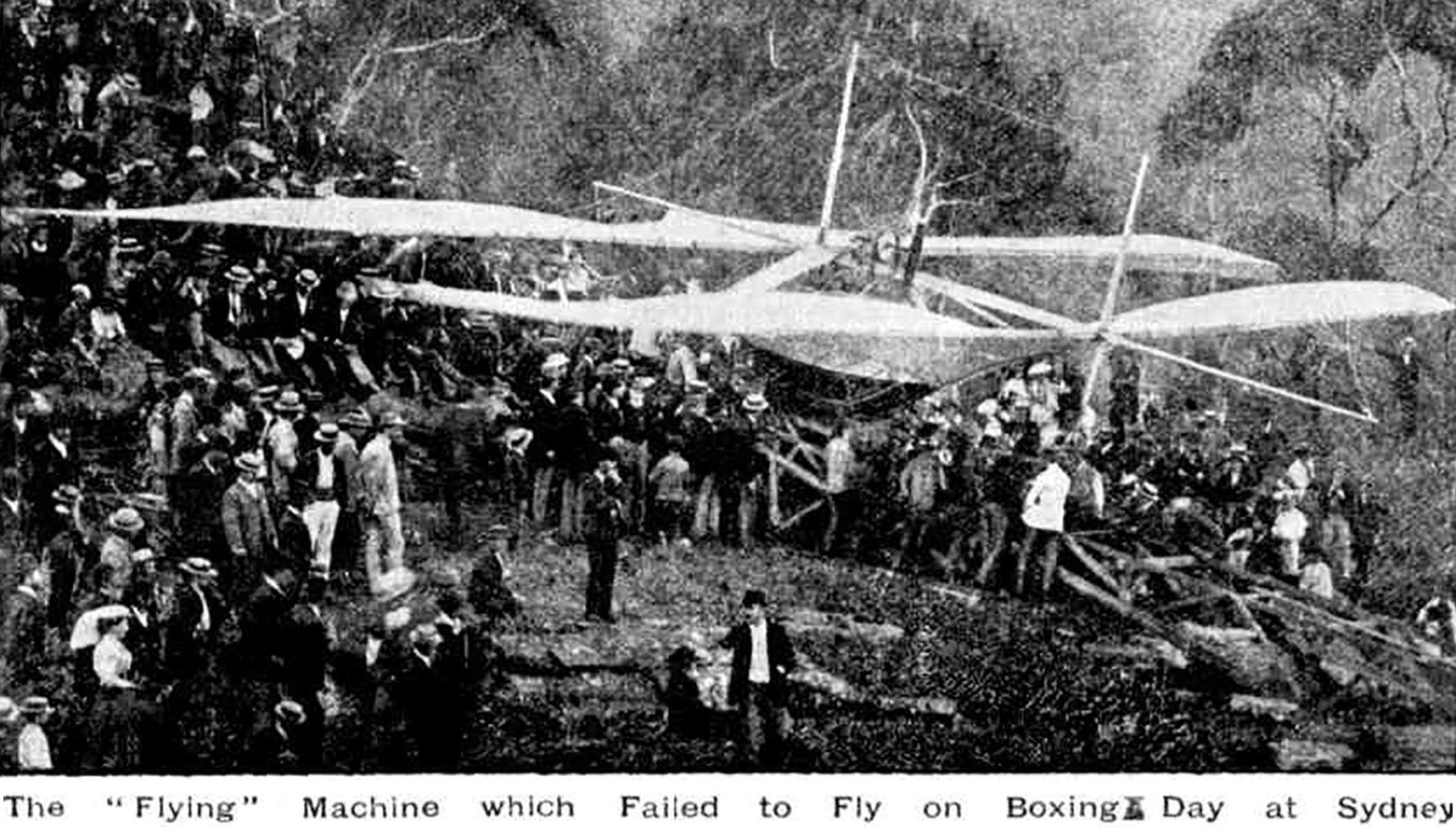 Captain Penfold takes off in a Hot Air Balloon at Clifton Gardens Mosman in 1914