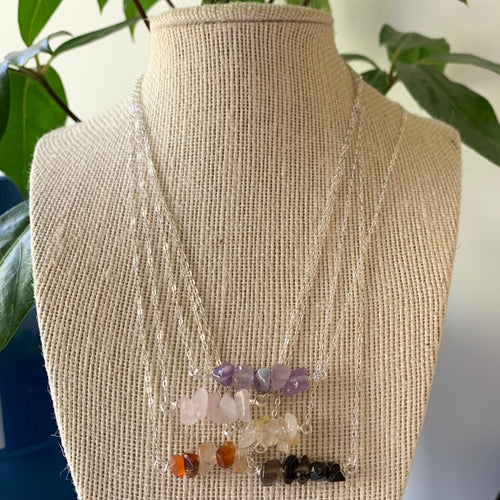 Crystal cluster pendants - assorted crystals