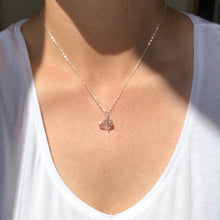 Load image into Gallery viewer, The Lennie - silver + clear quartz pendant