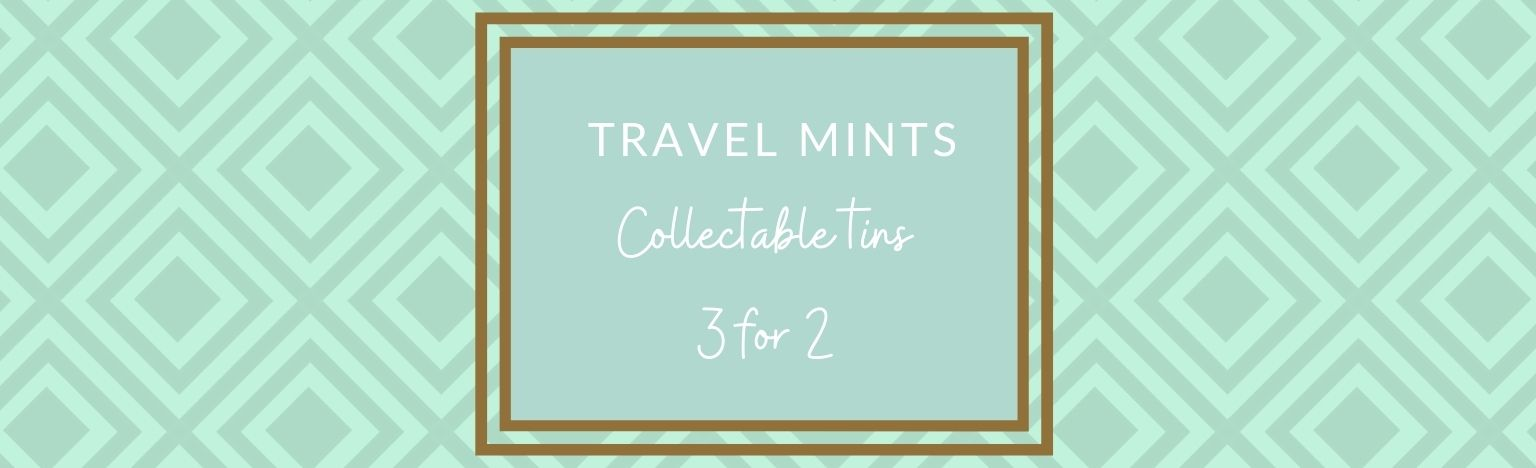Travel mints, 35g tins.  3 for 2